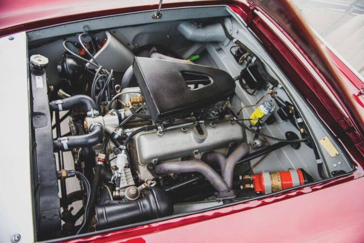 engine of the 1953 Fiat 8V Supersonic by Ghia