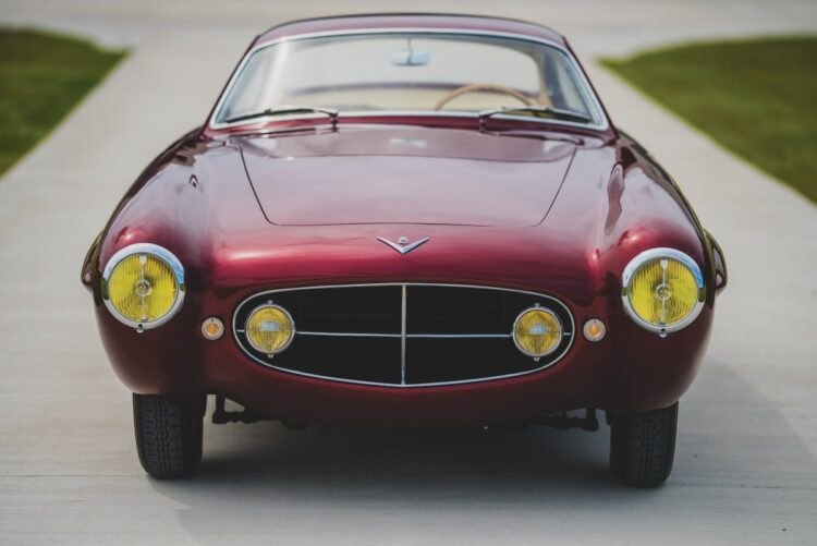 front of the 1953 Fiat 8V Supersonic by Ghia