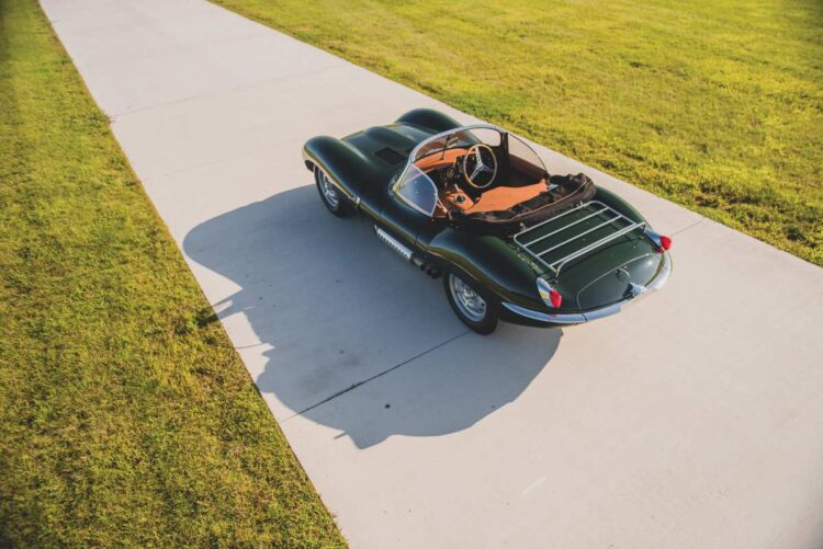 birdseye view of the 1957 Jaguar XKSS Continuation