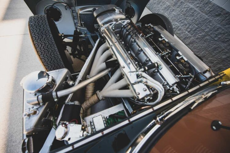 engine of the 1957 Jaguar XKSS Continuation