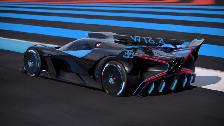 side angle of Bugatti Bolide