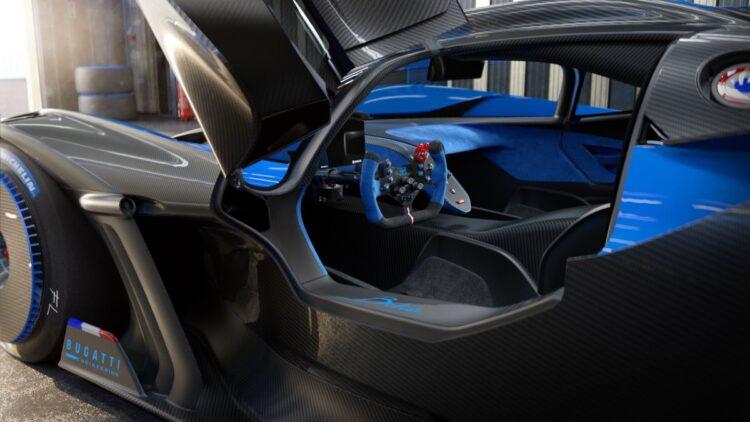 interior of Bugatti Bolide