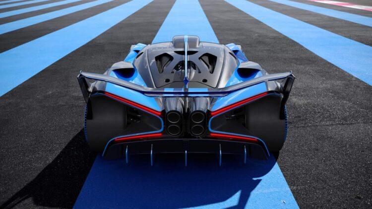 Rear exhaust of Bugatti Bolide