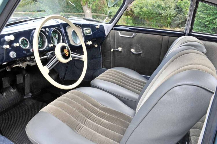 interior of Porsche 356 Pre A 1500 Coupe