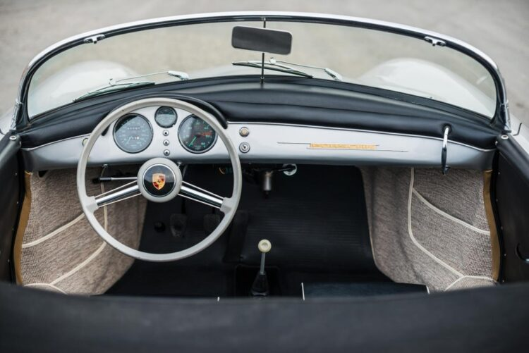 inside of 1955 Porsche 356 Pre-A 1600 Speedster