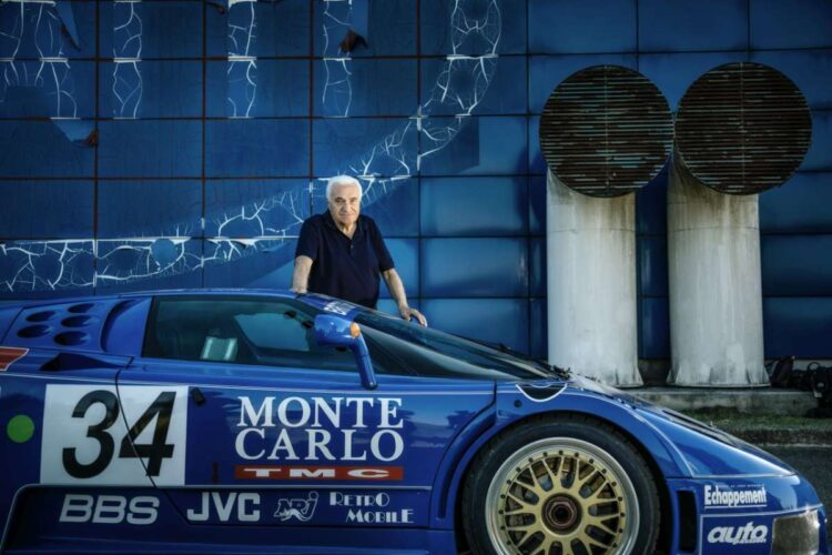 Romano Artioli with the Bugatti EB110