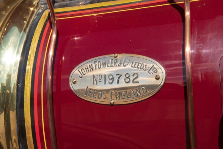 1932 Fowler 10HP B6 Showman's Road Locomotive plaque