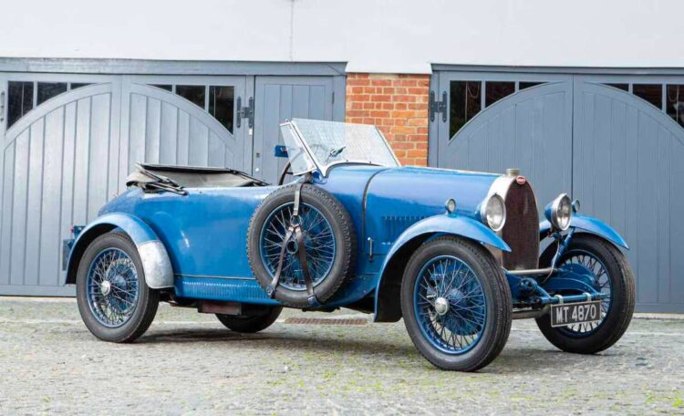side of 1929 Bugatti Type 40 Grand Sport Tourer