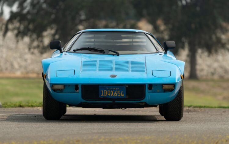 front of 1975 Lancia Stratos HF Stradale