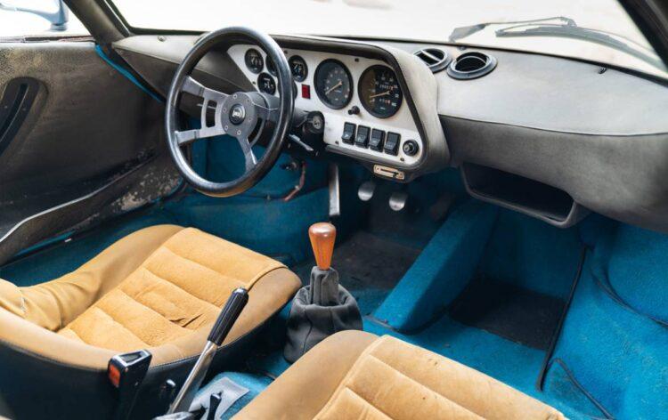 interior of 1975 Lancia Stratos HF Stradale