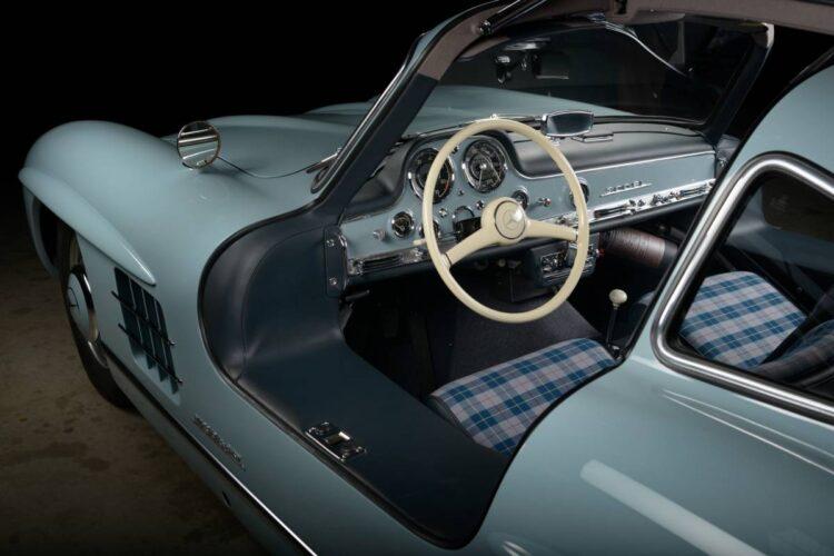 interior of  Mercedes 300SL
