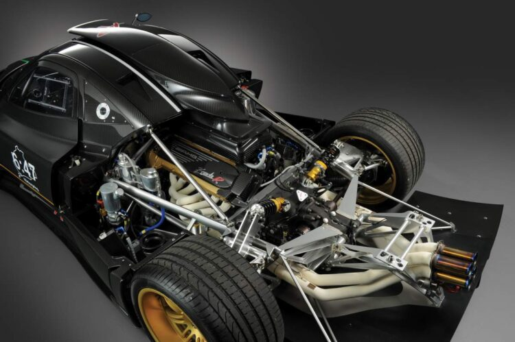Engine of the Pagani Zonda R