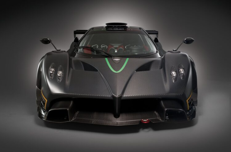 front of the Pagani Zonda R