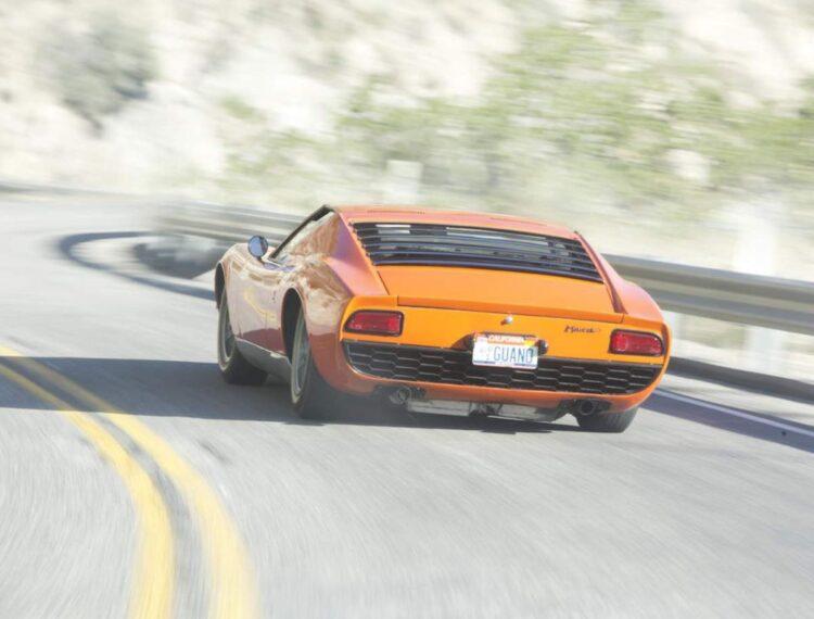 back of Lamborghini Miura P400