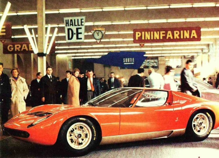 Lamborghini Miura at the 1966 Geneva Motor Show