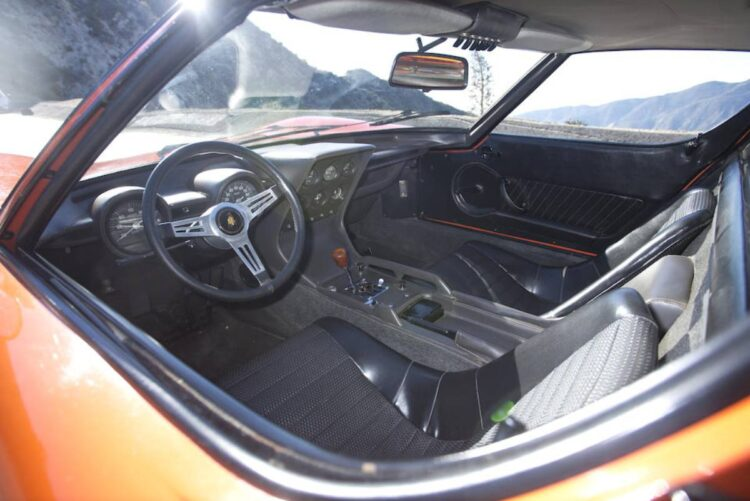 Interior of the 1967 Lamborghini Miura P400