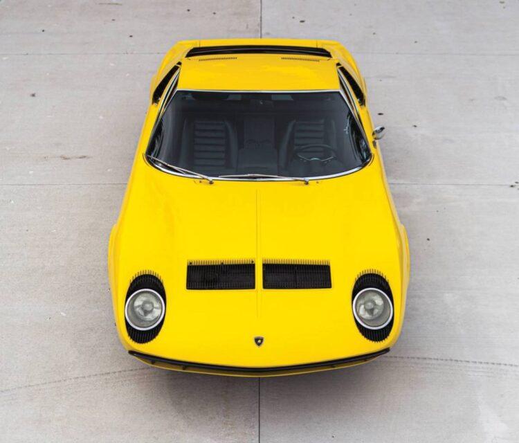 birdseye view of 1969 Lamborghini Miura P400 S