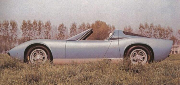 1968 Lamborghini Miura Roadster side profile