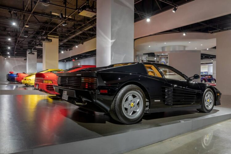 back of 1989 Ferrari Testarossa