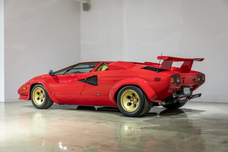 side of 1988 Lamborghini Countach 5000QV