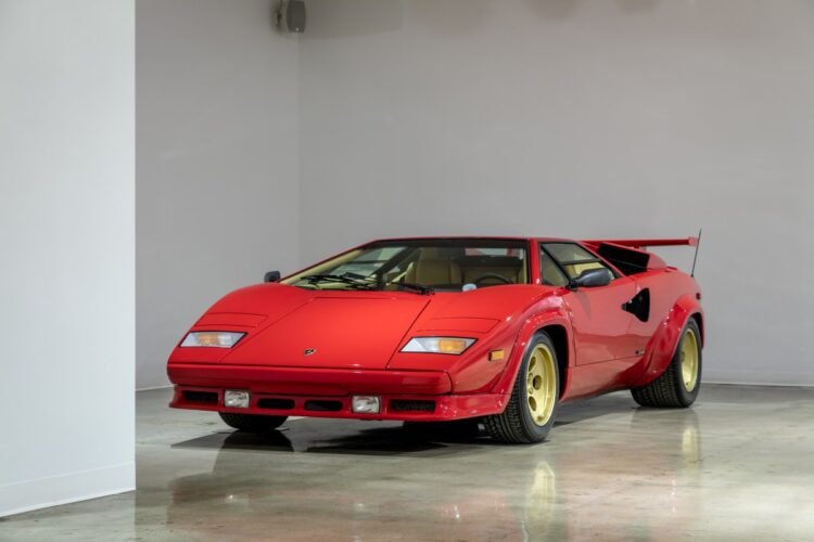 front of 1988 Lamborghini Countach 5000QV