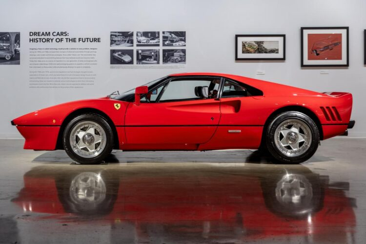 side of 1985 Ferrari 288 GTO