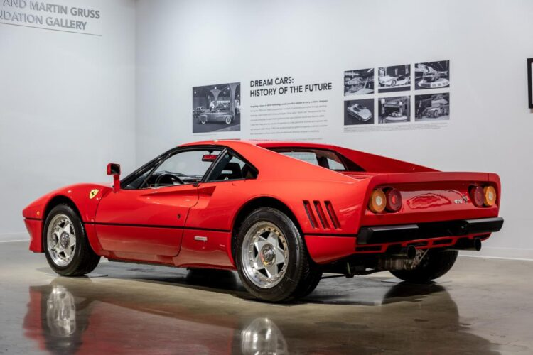 back of 1985 Ferrari 288 GTO