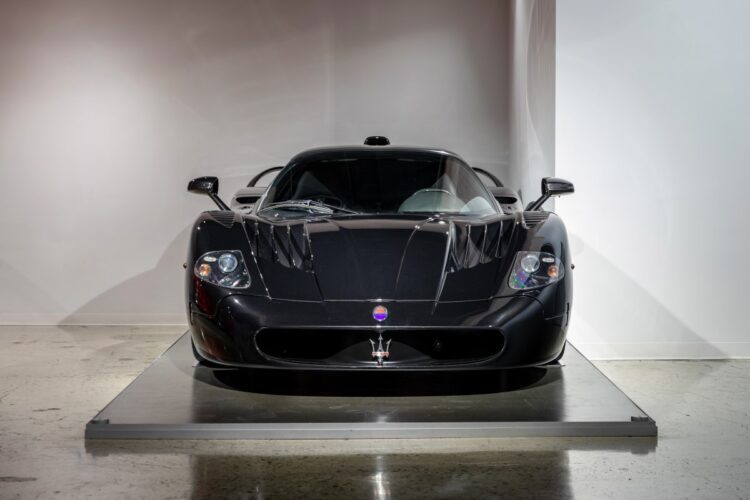 front of 2005 Maserati MC12
