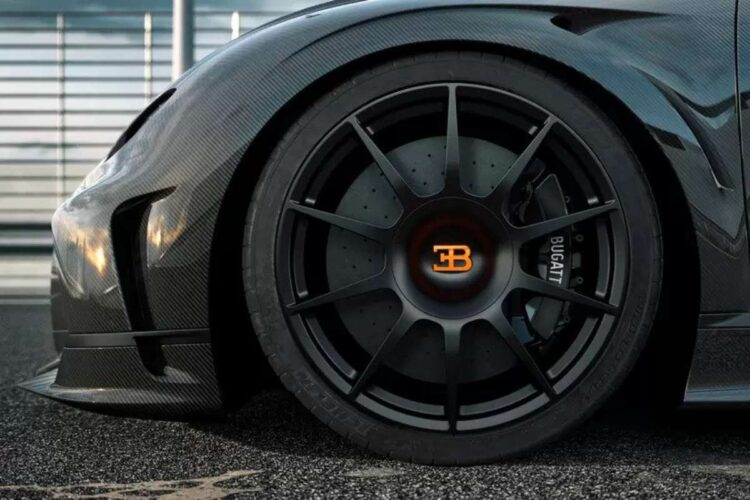 Tire of Bugatti Chiron Super Sport