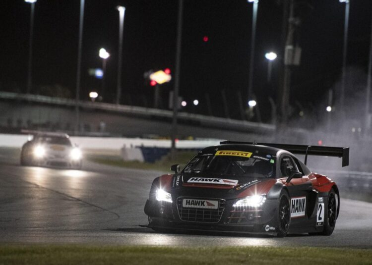 night time at 2020 HSR Daytona Classic 24 Hour