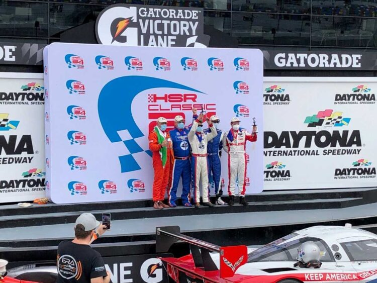 Winners at the 2020 HSR Daytona Classic 24 Hour