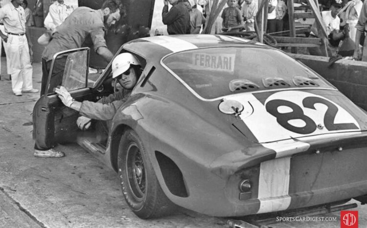 1964 12 Hours Sebring- Larry Perkins in the Ferrari 250 GTO