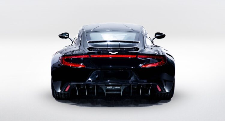 rear of the 2011 Aston Martin One-77
