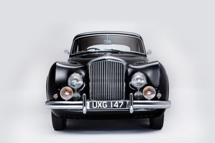 front of 1953 Bentley Continental Sports Saloon
