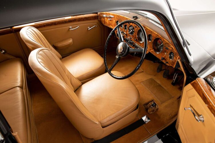 interior of 1953 Bentley Continental Sports Saloon