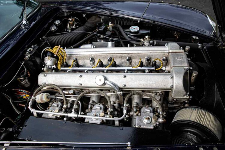 engine of 1967 Aston Martin DB6 Vantage Volante Convertible
