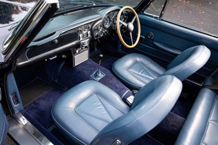 interior of the 1967 Aston Martin DB6 Vantage Volante Convertible
