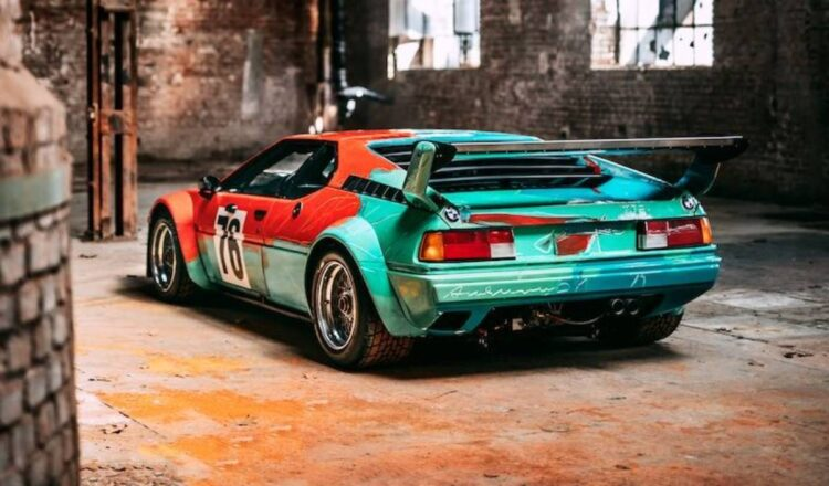 rear of Andy Warhol M1 Art Car