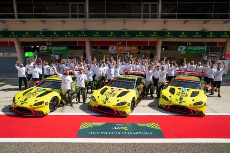 Aston Martin racing team
