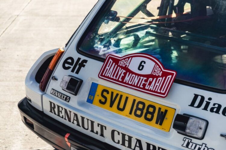 back of 1982 Renault 5 Turbo Group 4