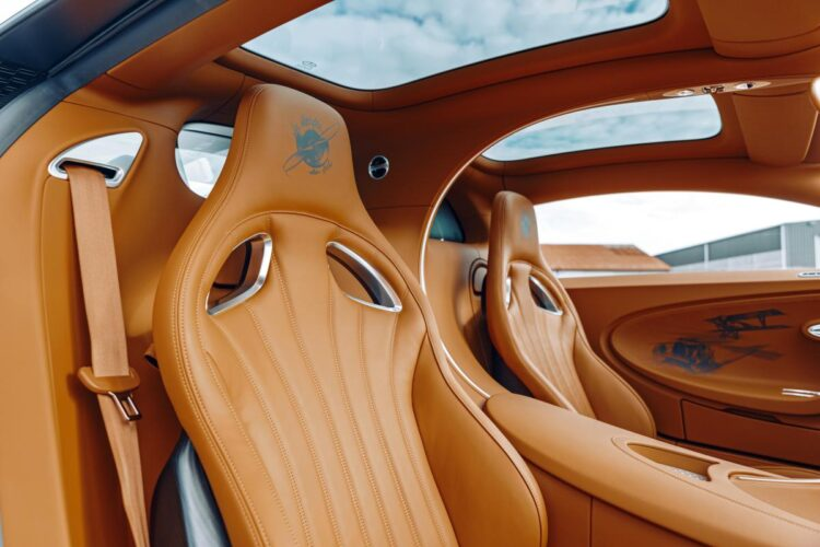 interior of Bugatti in leather