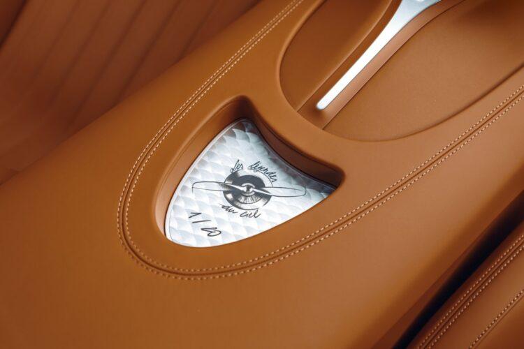 leather interior of Bugatti