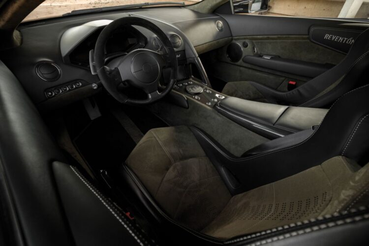 interior of Lamborghini