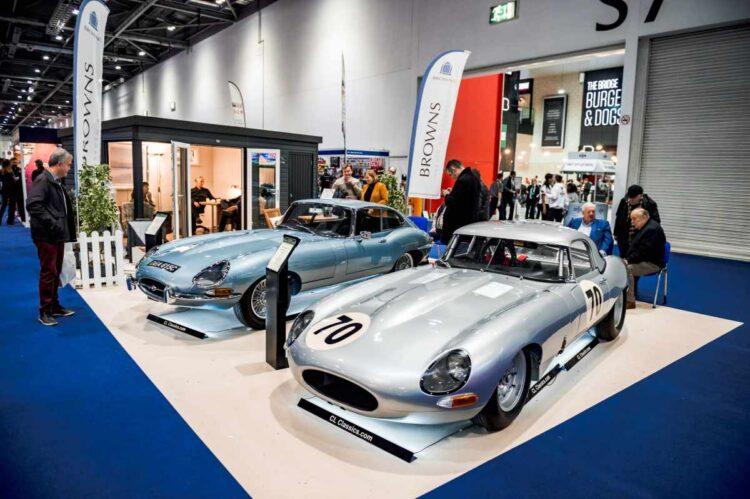 Jaguar E Type at London Classic Car Show 2021