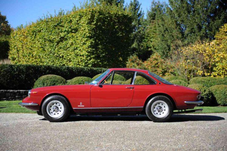 side of 1969 Ferrari 365 GTC by Pininfarina