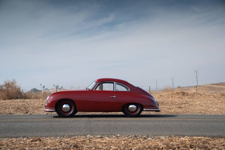 side of 1951 Porsche 356 Coupe by Reutter