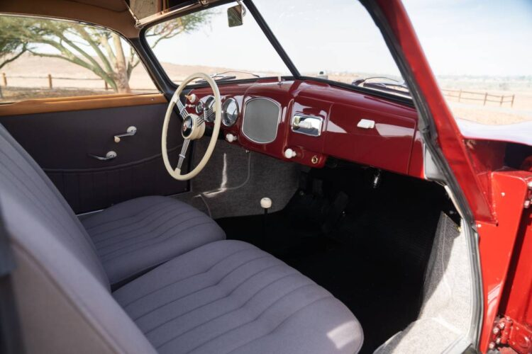 interior of 1951 Porsche 356 Coupe by Reutter