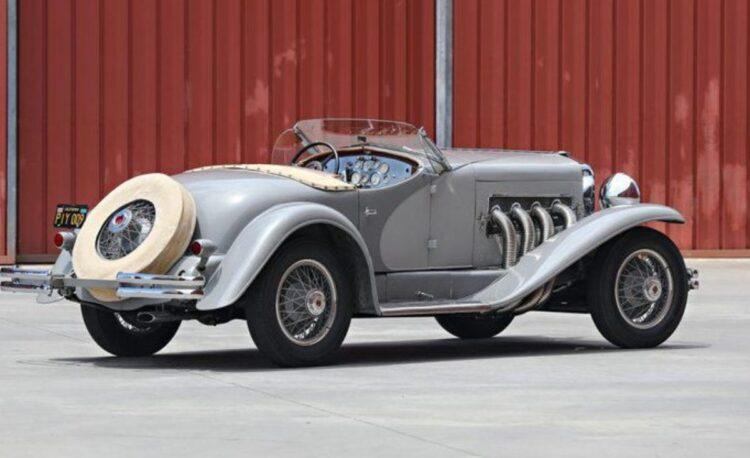 rear of 1935 Duesenberg SSJ