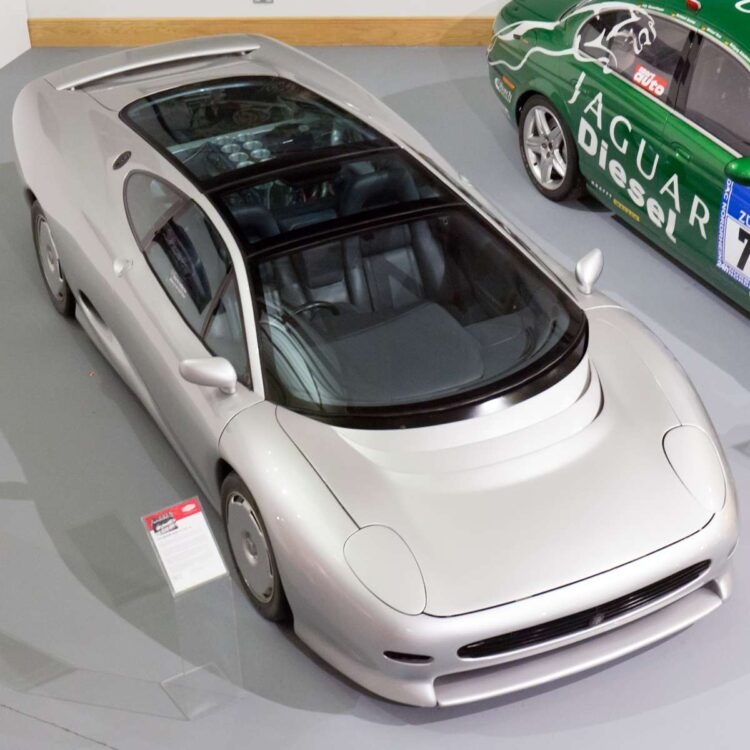 Birdseye view of XJ220 Concept car