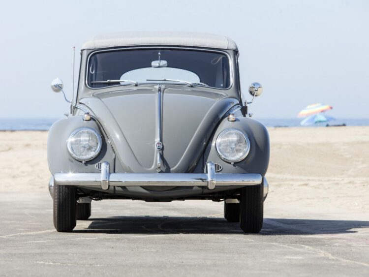 front of Volkswagen Karmann Beetle
